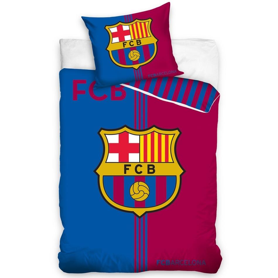 TipTrade Bavlněné povlečení FC Barcelona Erb, 160 x 200 cm, 70 x 80 cm