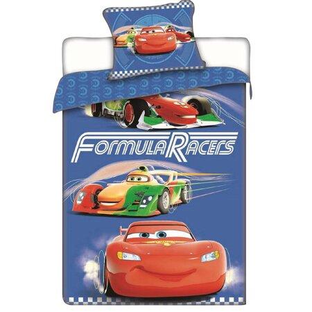 Bavlněné povlečení Cars Formula Racers, 140 x 200 cm, 70 x 90 cm