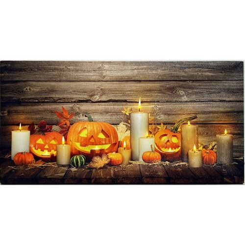 LED Obraz na plátně Pumpkin, 60 x 30 cm