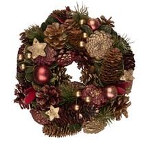 Altom Vianočný veniec Luxury 25 cm, červená