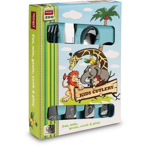 Set de tacâmuri Lamart LT5005 ZOO, pentru copii, 4 buc