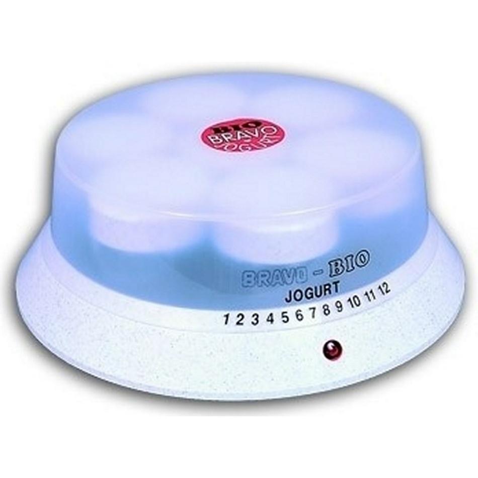 Bravo Jogurtovač 150 ml, 7 sklenic, bílá