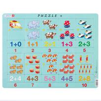Puzzle Larsen Adunare cu ilustraţii şi numere , 20 piese