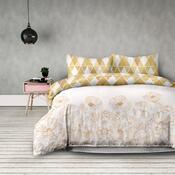AmeliaHome Flanelové obliečky Golden poopy, 160 x 200 cm, 2 ks 70 x 80 cm