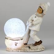 Vánoční figurka s LED světlem