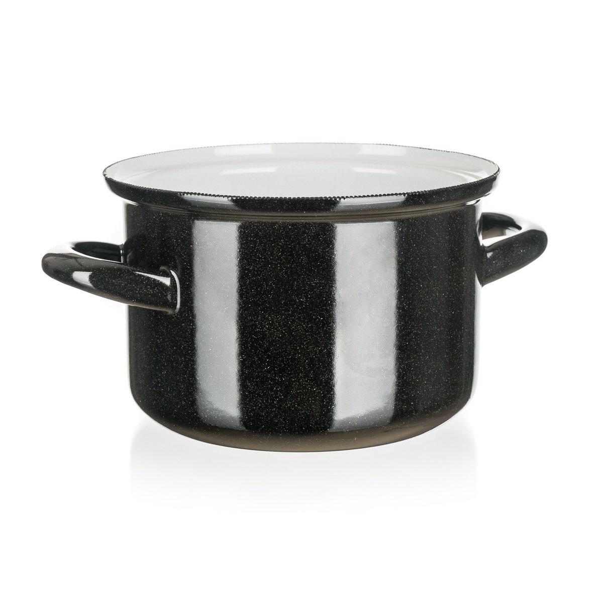 Belis Smaltovaný hrniec Standard 14 cm, čierna