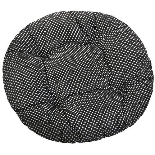 Sedák Adela okrúhly prešívaný Bodka čierna, 40 cm