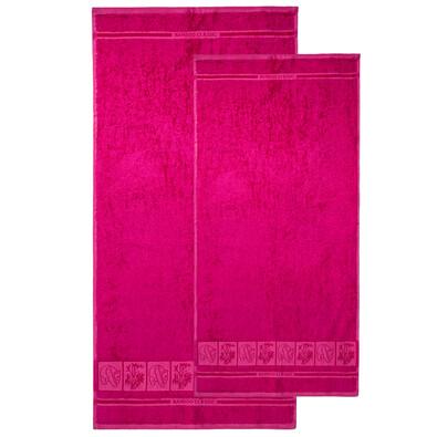 Set de două prosoape 4Home Bamboo Premium, roz, 70 x 140 cm, 50 x 100 cm