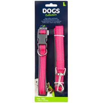 Dogs Obojok pre psa s vodítkom vel. small, ružová