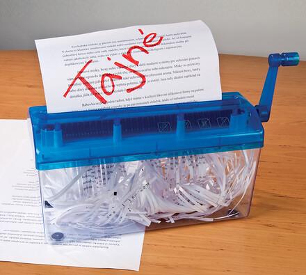 Domowa niszczarka papieru A4 niebieski