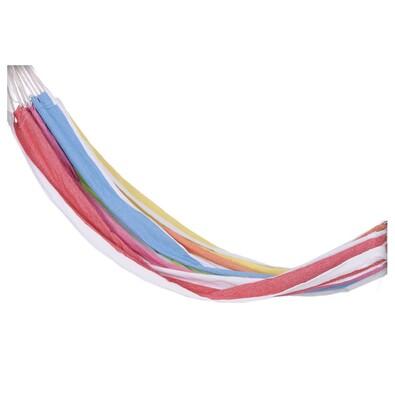 Houpací síť pro dvě osoby, barevné proužky