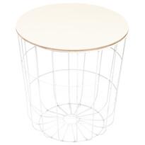 Kilenny segédasztal, fehér, 42 cm