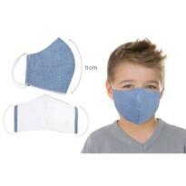 Ústne bavlnené rúško UNI modrá - deti do 12 rokov