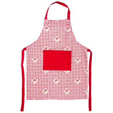 Şorţ Country cu pătrate, roşu, 60 x 80 cm