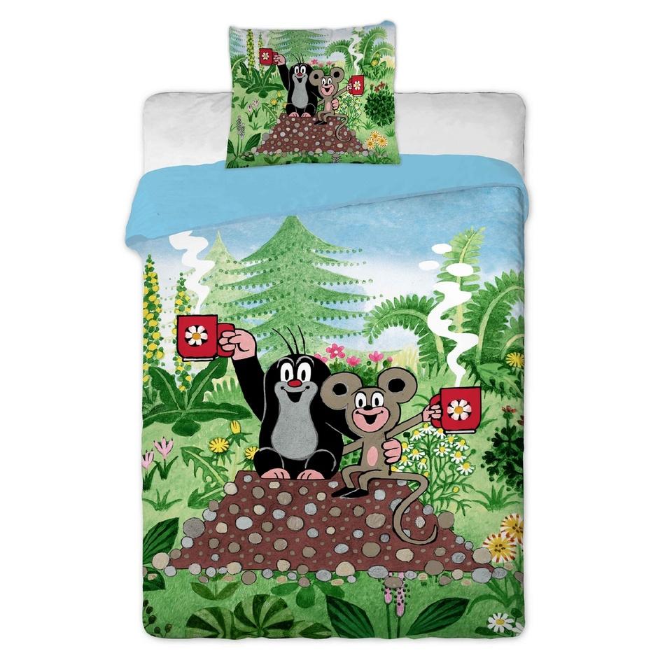 Jerry Fabrics Detské obliečky Krtko s myškou 140x200 + 70x90 bavlna