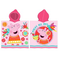 Poncho copii Purcelușa Peppa în vacanță, 55 x 110 cm