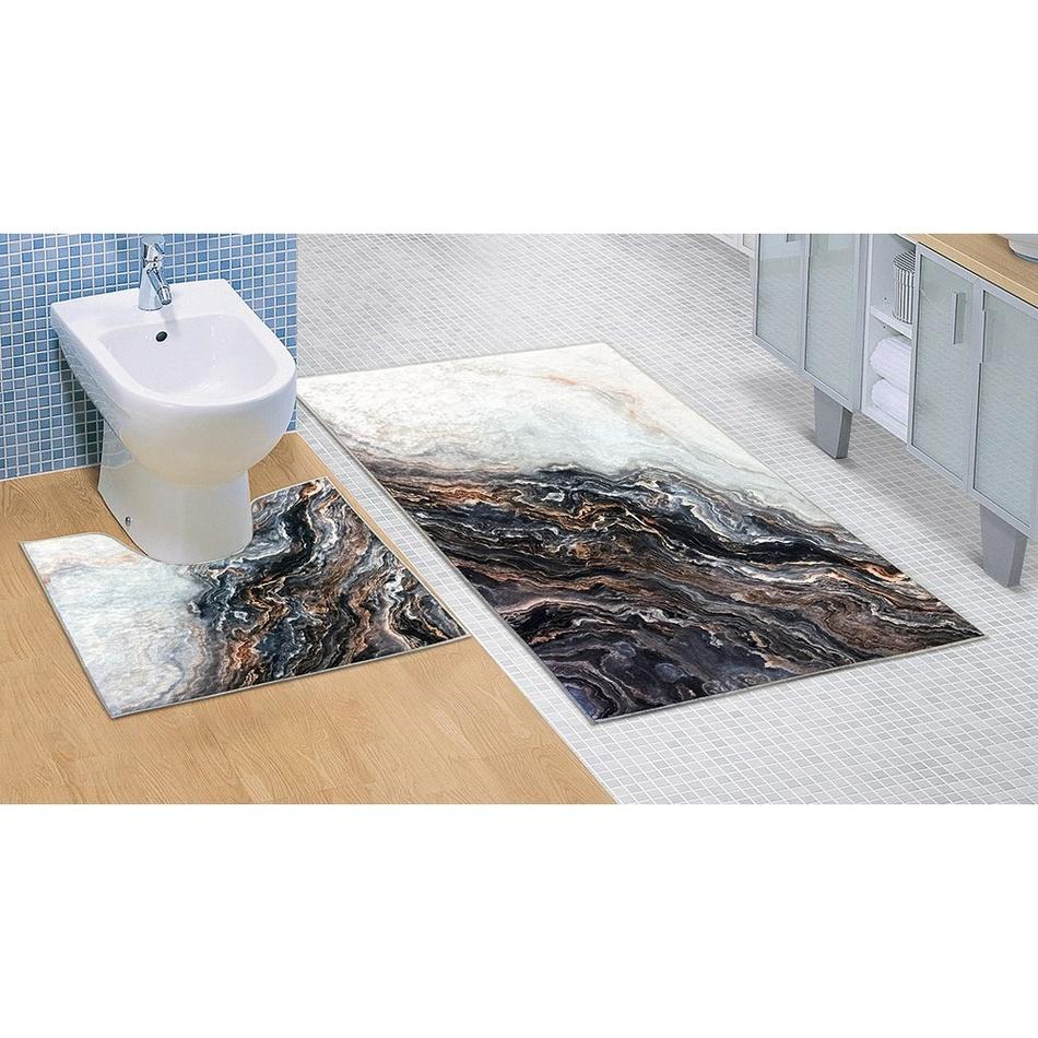 Bellatex Koupelnová předložka Mramor 3D, 60 x 100 + 60 x 50 cm