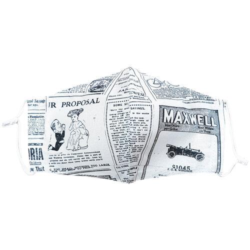 Mască facială din bumbac Ziarul mini medium