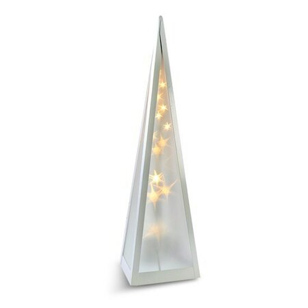Solight Vianočná pyramída otáčacia 16 LED teplá biela, 45 cm