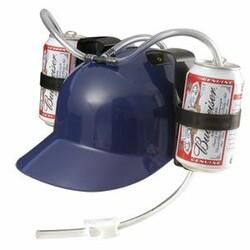 Pivní helma, modrá