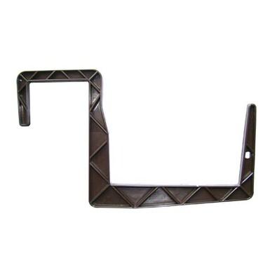 Držiak truhlíkov profil záves 11 x12 cm hnedá 4 ks