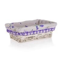 Coș împletit Home Decor Lavender, 21 x 16x 6,5 cm