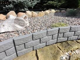 Palisadă - bordură de grădină, gri, 2,2 m