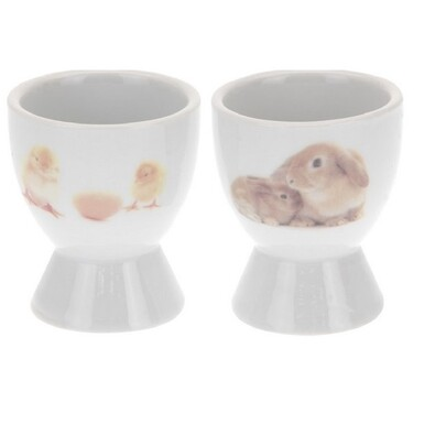 Koopman Kalíšok na vajíčko veľkonočný zajac a kuras vajíčkom, 2 ks