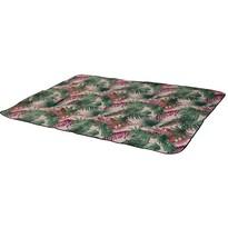 Koc piknikowy Tropical leaves różowy, 150 x 200 cm