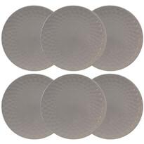 Florina Zestaw ceramicznych talerzy płytkich Diamond 27 cm, 6 czt., ciemnoszary