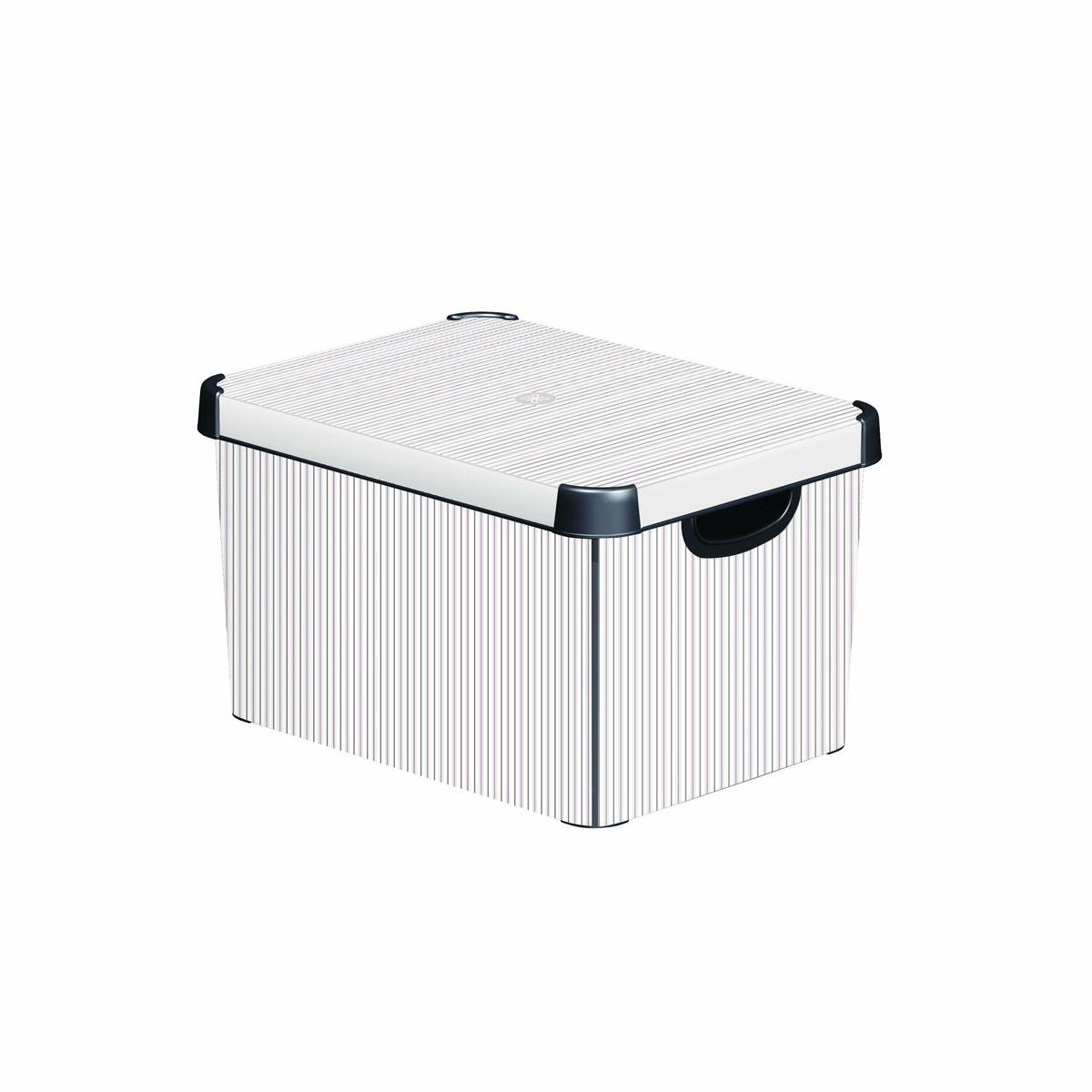 CURVER CLASSICO L box úložný dekoratívny 39,5 x 29,5 x 25 cm sivá/biela