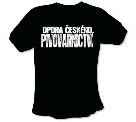 """Pánské tričko s vtipným potiskem, """"""""Opora českého , XXL"""