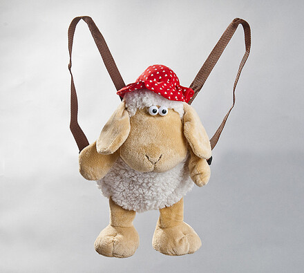 Batůžek ovečka, béžová, 35 cm