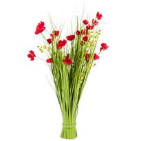 Väzba umelých lúčnych kvetín 80 cm, červená