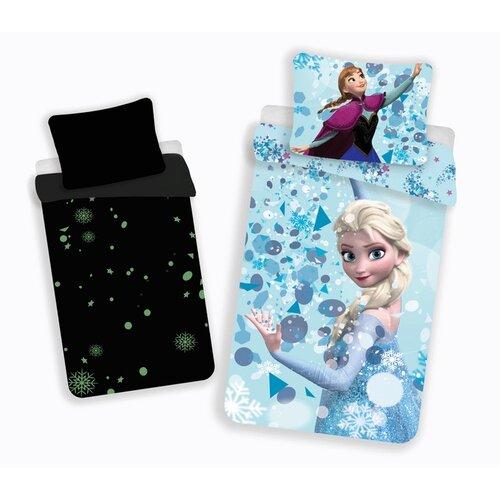 Jerry Fabrics Dětské bavlněné svíticí povlečení Ledové království Frozen glow, 140 x 200 cm, 70 x 90 cm
