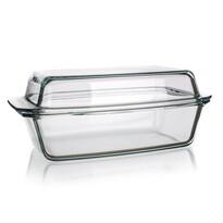 SIMAX szögletes üvegtepsi fedővel 5,4 l