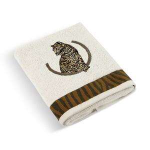 Ručník Leopard bílá, 50 x 100 cm
