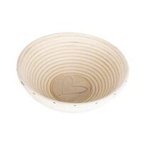 Coș oval din ratan Orion Inimă, diam. 21 cm