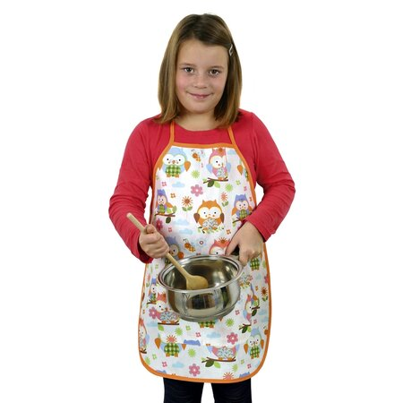 Dětská zástěra Sovičky barevná, 42 x 55 cm