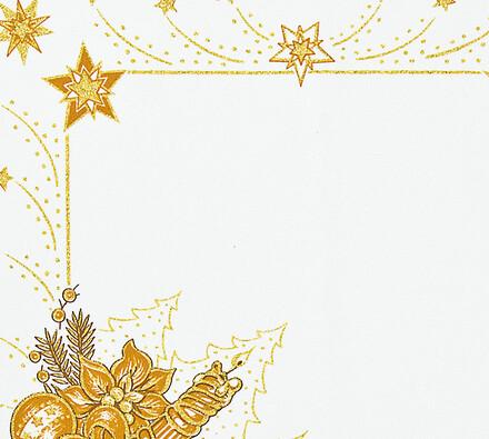 Vánoční ubrus s potiskem, champaigne, 85 x 85 cm