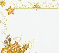 Vánoční ubrus s potiskem, champaigne, 42 x 85 cm