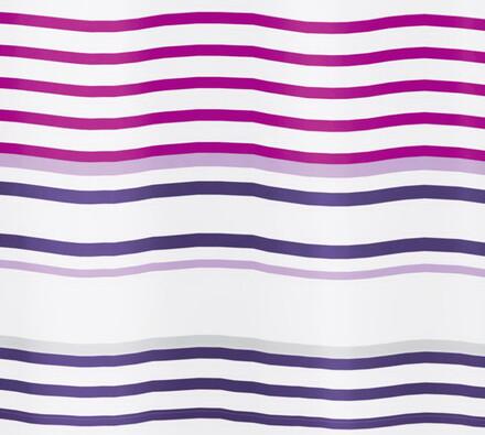 Textilní sprchový závěs Vlnky, fialová