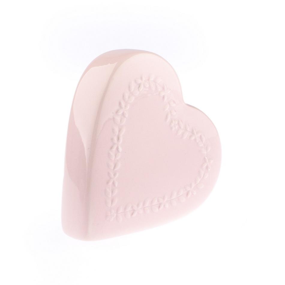 Keramický zvlhčovač vzduchu My heart, růžová