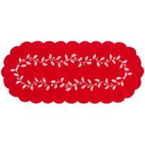 Vánoční ubrus Cesmína červená, 40 x 90 cm