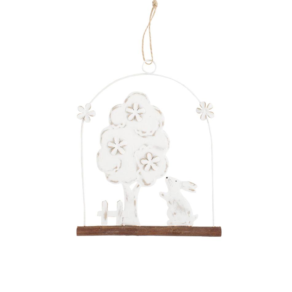 Závěsná dekorace Strom se zajíčkem, 20 cm