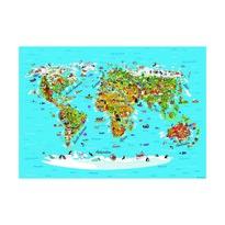 Detská fototapeta XXL Mapa sveta 360 x 270 cm, 4 diely