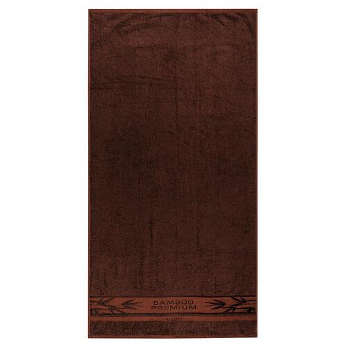 Set prosoape 4Home Bamboo Premium maroînchis, 70 x 140 cm, 50 x 100 cm
