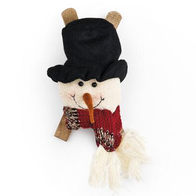 Látkový sněhulák závěsný, 3 ks