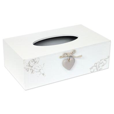 Krabička na kapesníčky bílá