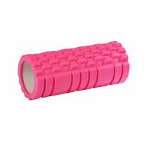 Rolă fitness de masaj, roz, 33 x 15 cm